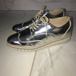 Zara metallic shoes